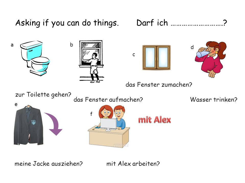 door deutsch? Bahnhof englisch? ab c d e f g hi Telling/asking your teacher things