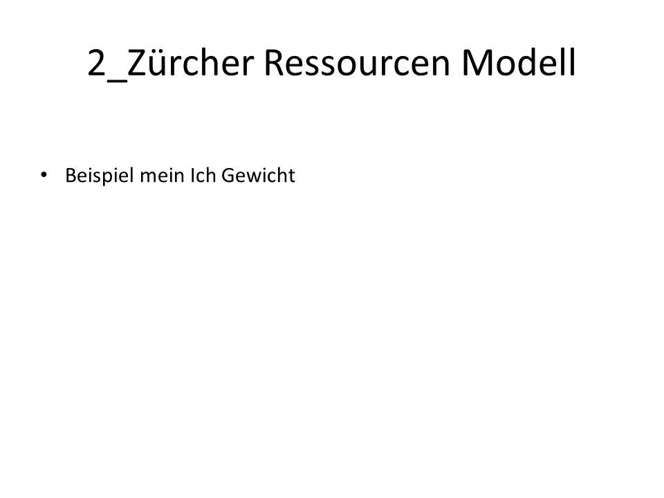 2_Zürcher Ressourcen Modell Beispiel mein Ich Gewicht