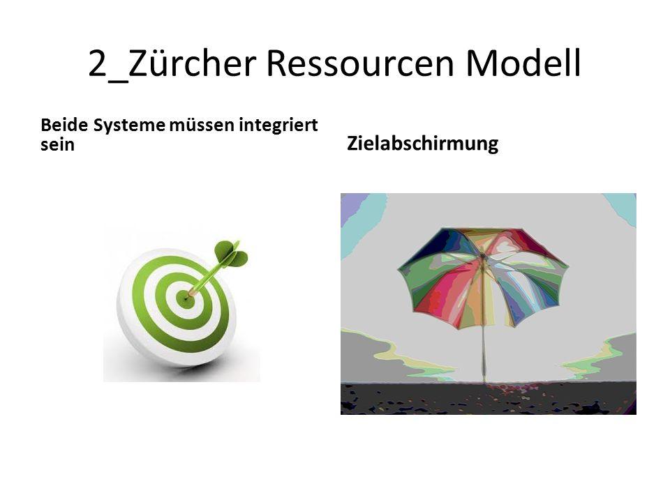 2_Zürcher Ressourcen Modell Beide Systeme müssen integriert sein Zielabschirmung