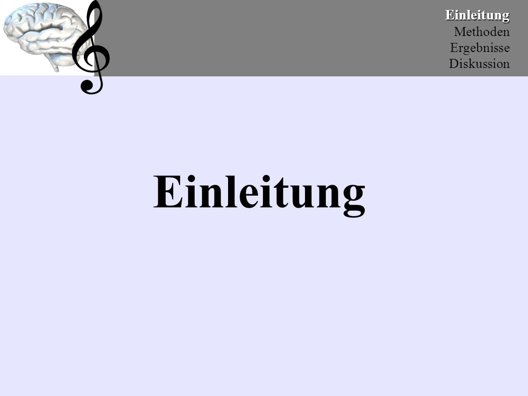 """EinleitungMethoden Ergebnisse Diskussion 4.) Stimulusmaterial / Beispiele Jazz """"positiv Take Five, Dave Burback, We`re all together again for the first time, Atlantik 1972 Environmental sounds """"positiv Water, sea shore, sea gulls, waves coming in Sound Ideas, Sound effekts libary."""