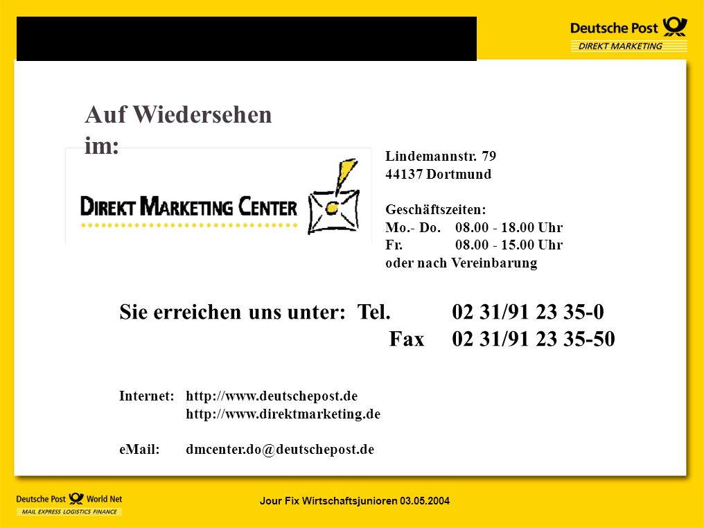 Jour Fix Wirtschaftsjunioren 03.05.2004 Lindemannstr.