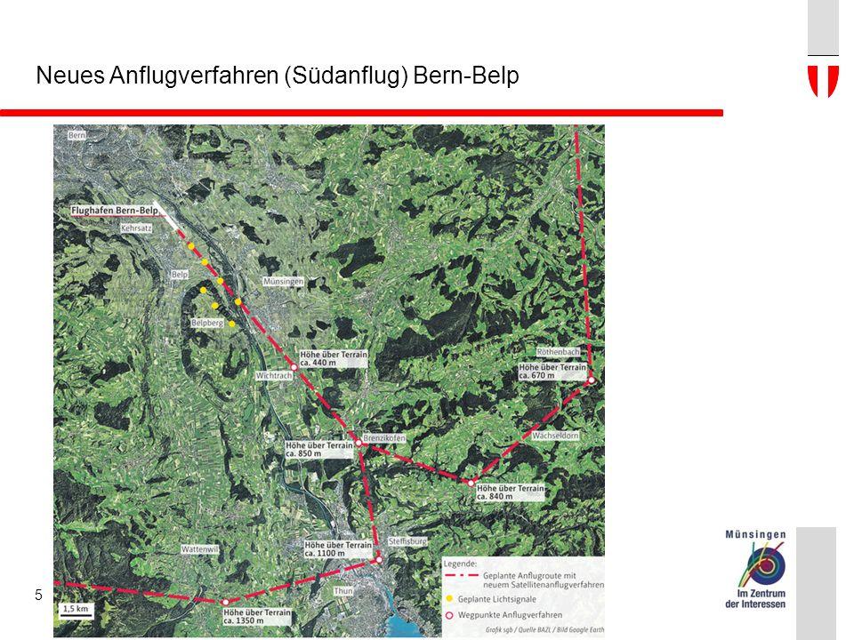 Neues Anflugverfahren (Südanflug) Bern-Belp 5