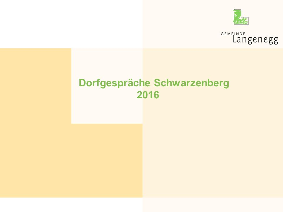 Dorfgespräche Schwarzenberg 2016