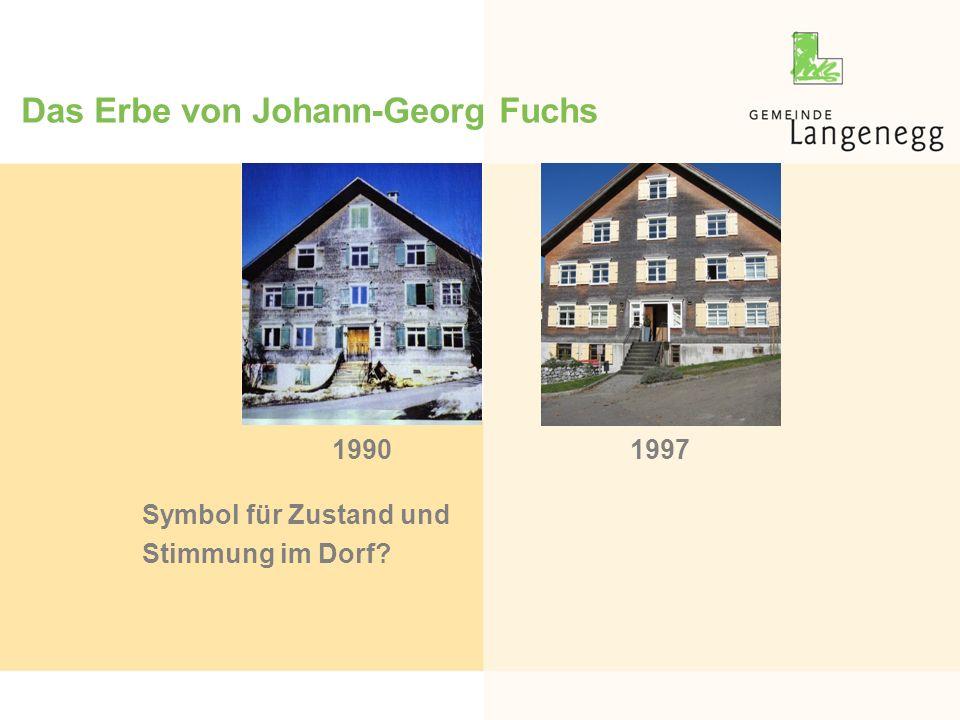 Das Erbe von Johann-Georg Fuchs Symbol für Zustand und Stimmung im Dorf 19971990