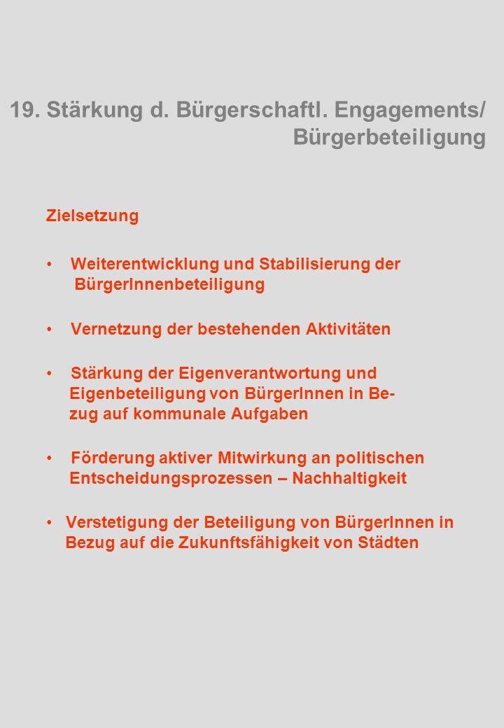 19. Stärkung d. Bürgerschaftl.