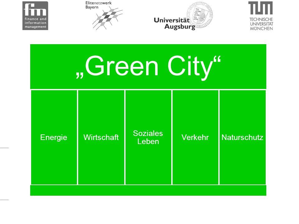 """""""Green City EnergieWirtschaft Soziales Leben VerkehrNaturschutz"""