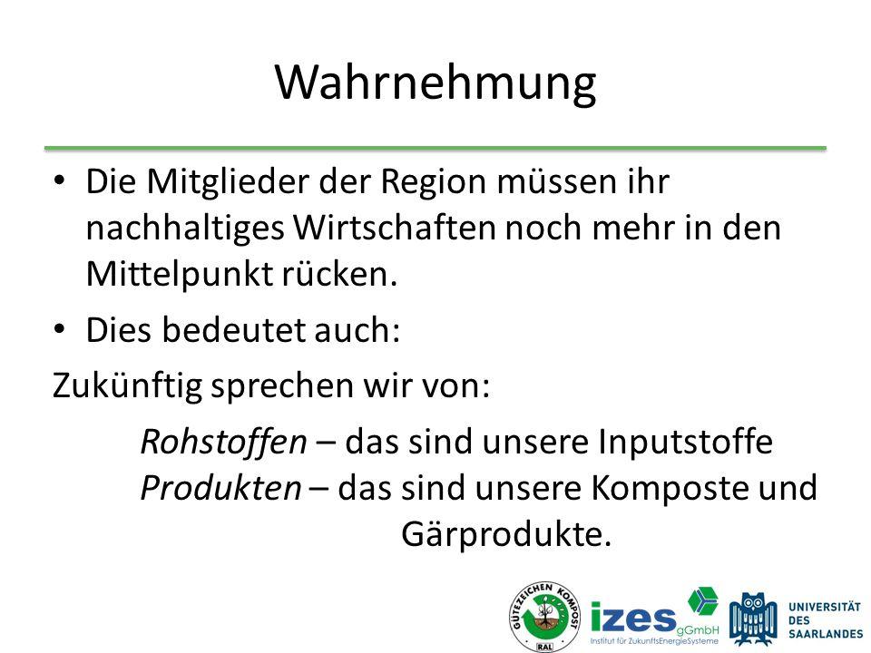 Wahrnehmung Die Mitglieder der Region müssen ihr nachhaltiges Wirtschaften noch mehr in den Mittelpunkt rücken.