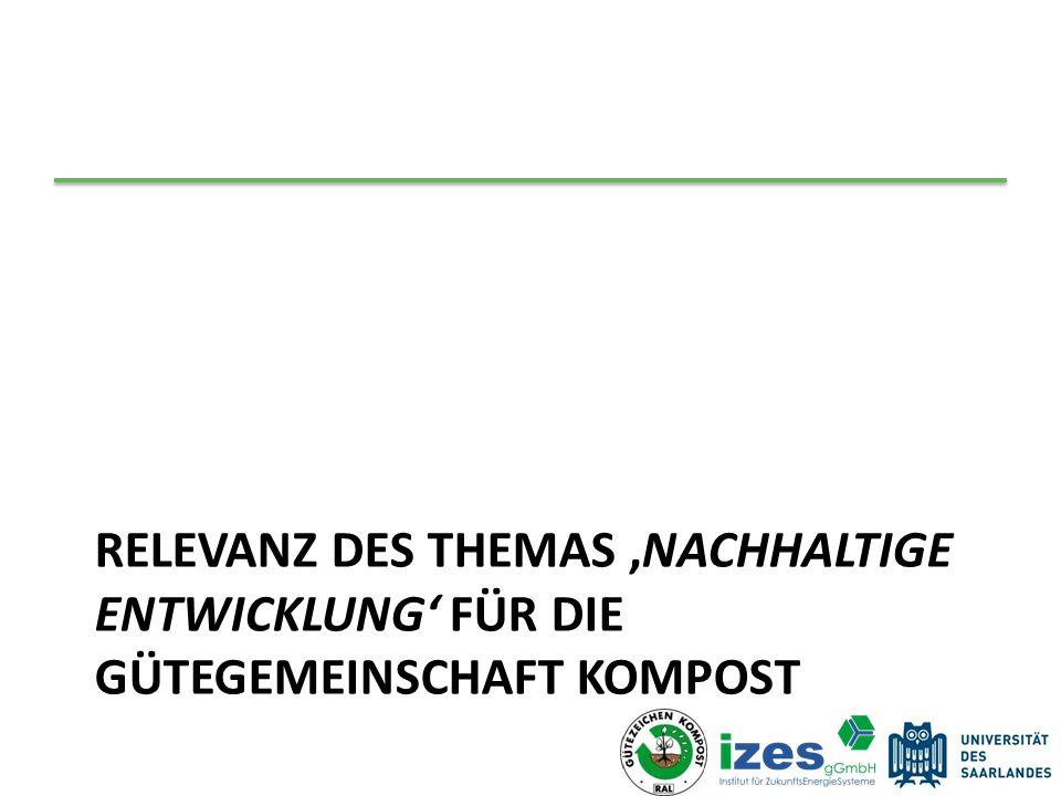 Gesamtbewertung Die Produktion von Kompost aus biogenen Abfällen ist ein gutes Beispiel für eine Nachhaltige Entwicklung.