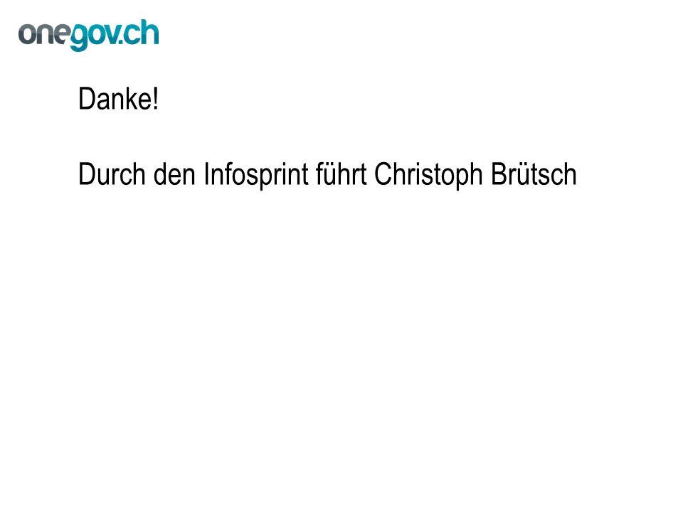 Danke! Durch den Infosprint führt Christoph Brütsch