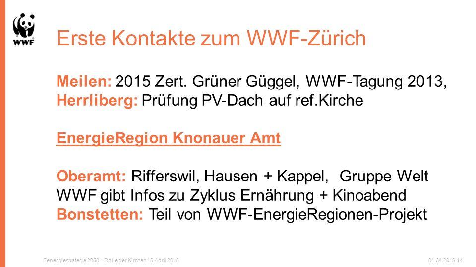Erste Kontakte zum WWF-Zürich Meilen: 2015 Zert.