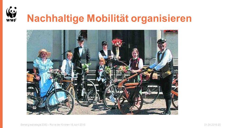 Nachhaltige Mobilität organisieren Eenergiestrategie 2050 – Rolle der Kirchen 15.April 201601.04.201620