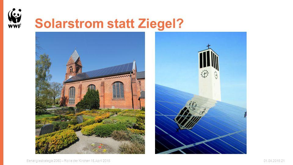 Solarstrom statt Ziegel Eenergiestrategie 2050 – Rolle der Kirchen 15.April 201601.04.201621