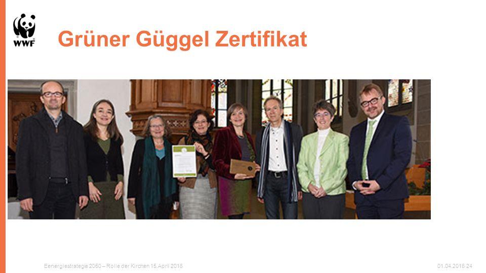 Grüner Güggel Zertifikat Eenergiestrategie 2050 – Rolle der Kirchen 15.April 201601.04.201624