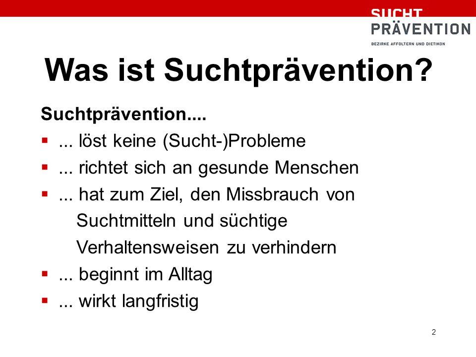 2 Was ist Suchtprävention. Suchtprävention.... ...