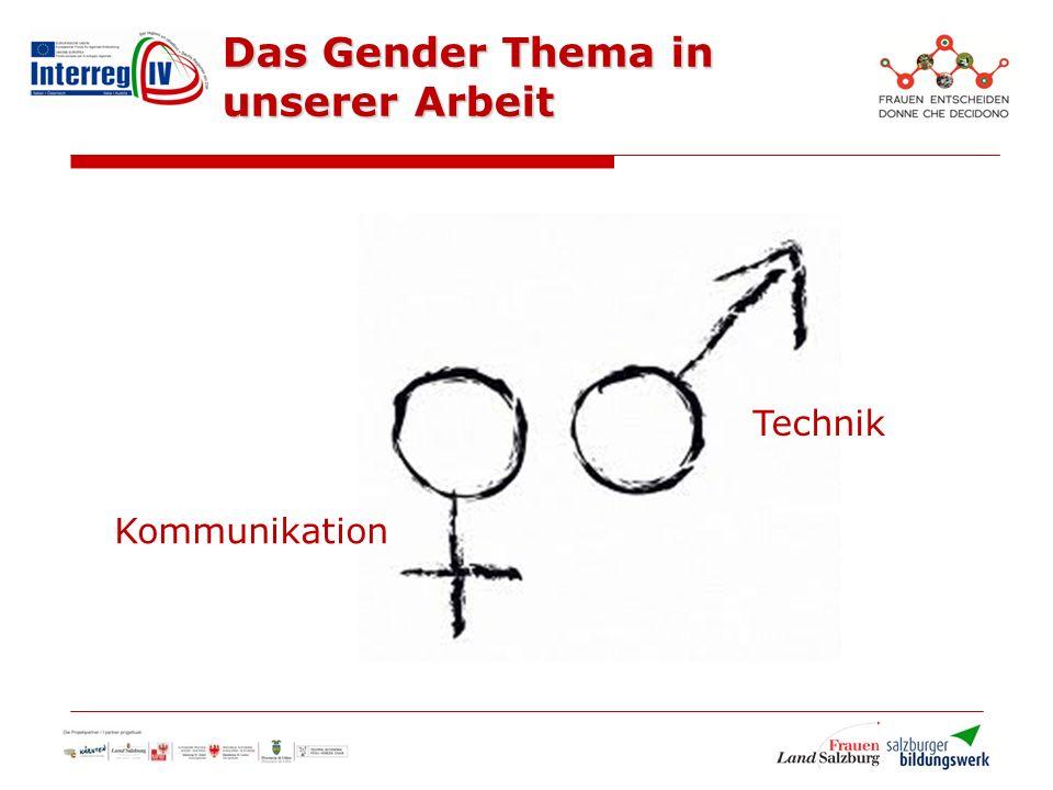 Das Gender Thema in unserer Arbeit Kommunikation Technik