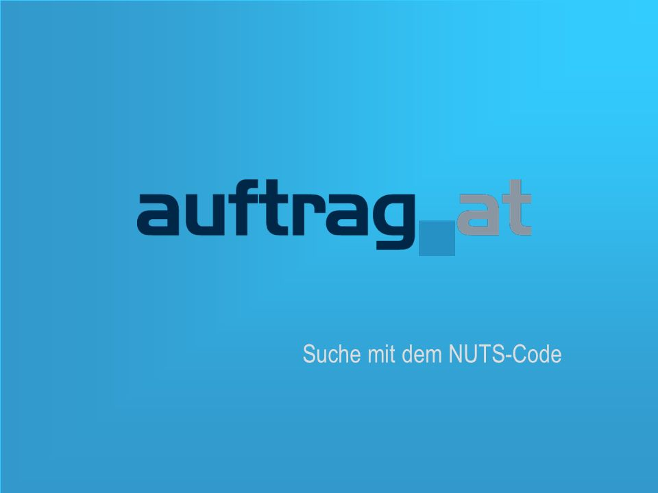 17 Suche mit dem NUTS-Code