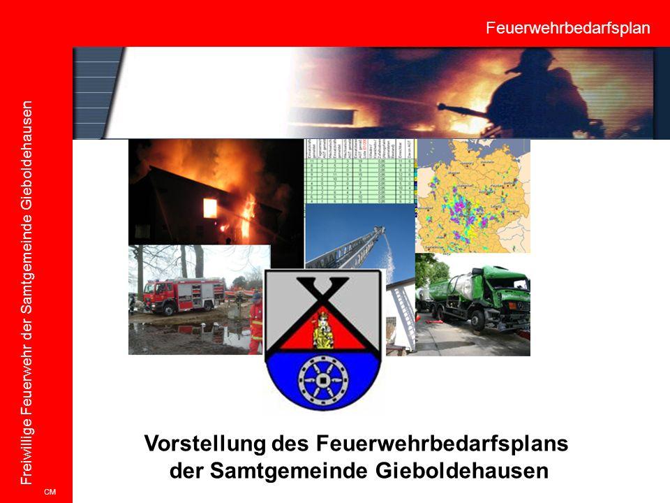 Feuerwehrbedarfsplan Freiwillige Feuerwehr der Samtgemeinde Gieboldehausen Vorstellung des Feuerwehrbedarfsplans der Samtgemeinde Gieboldehausen CM