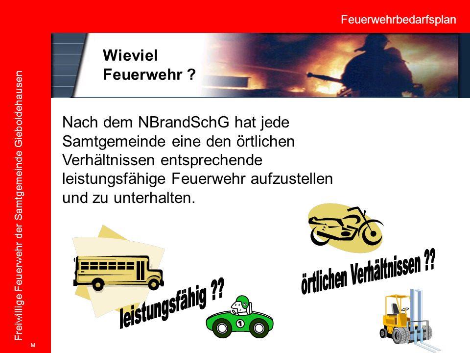 Feuerwehrbedarfsplan Freiwillige Feuerwehr der Samtgemeinde Gieboldehausen Nach dem NBrandSchG hat jede Samtgemeinde eine den örtlichen Verhältnissen