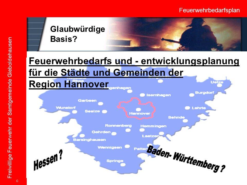 Feuerwehrbedarfsplan Freiwillige Feuerwehr der Samtgemeinde Gieboldehausen Feuerwehrbedarfs und - entwicklungsplanung für die Städte und Gemeinden der