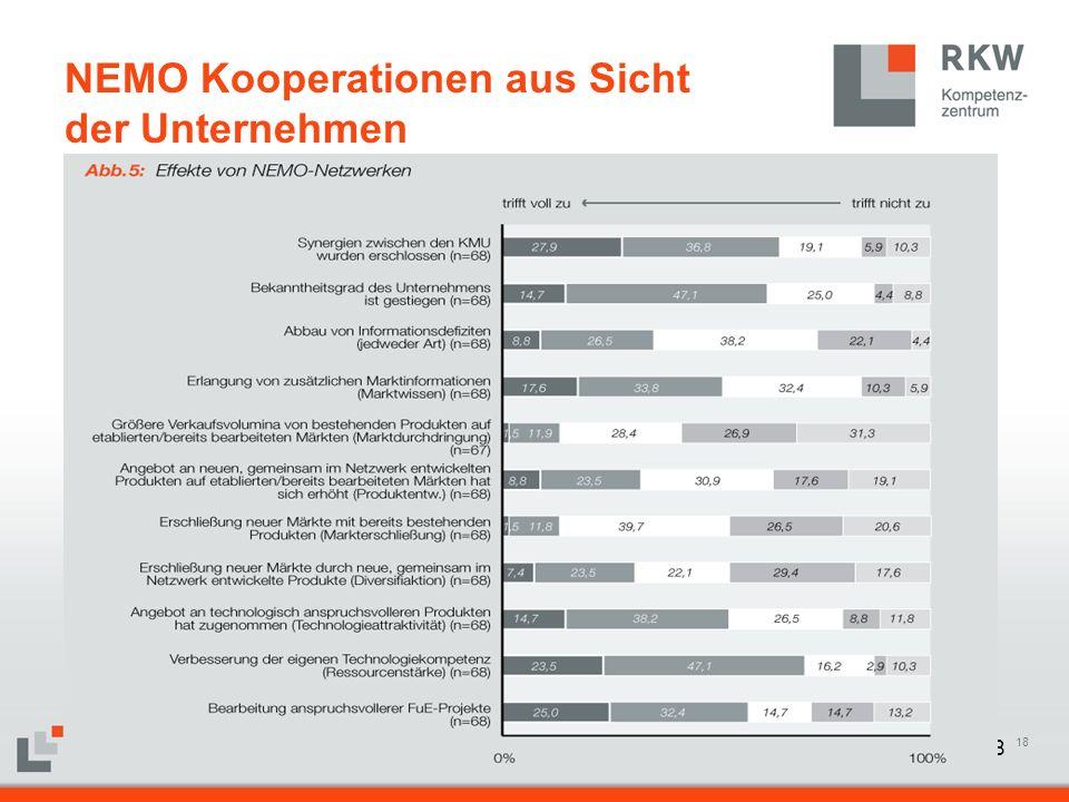18 NEMO Kooperationen aus Sicht der Unternehmen