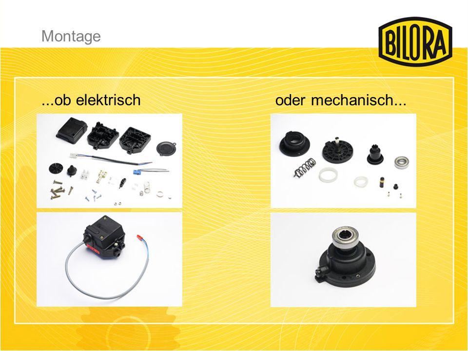 ...ob elektrisch oder mechanisch... Montage