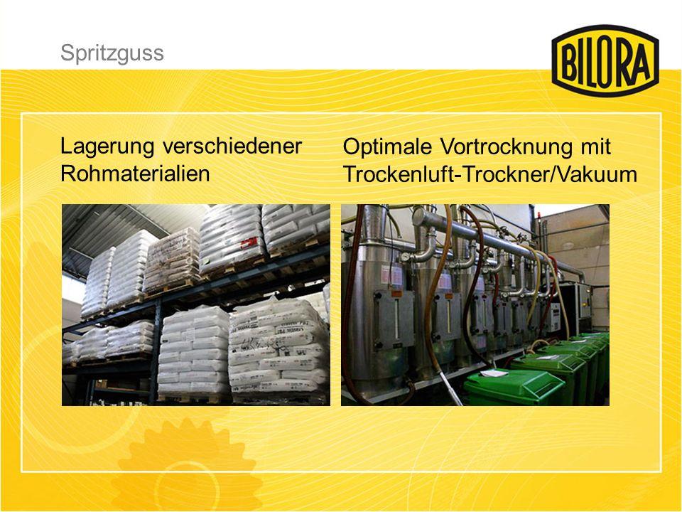 Lagerung verschiedener Rohmaterialien Optimale Vortrocknung mit Trockenluft-Trockner/Vakuum Spritzguss