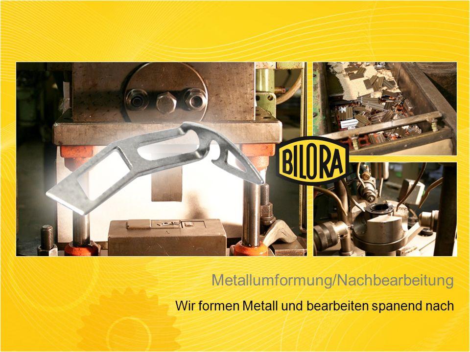 Metallumformung/Nachbearbeitung Wir formen Metall und bearbeiten spanend nach