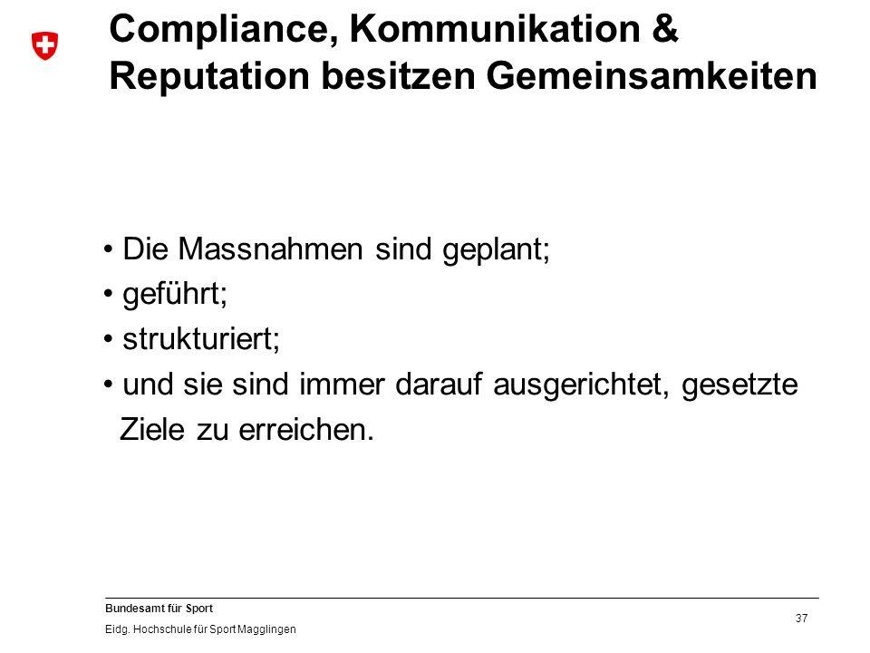 37 Bundesamt für Sport Eidg.