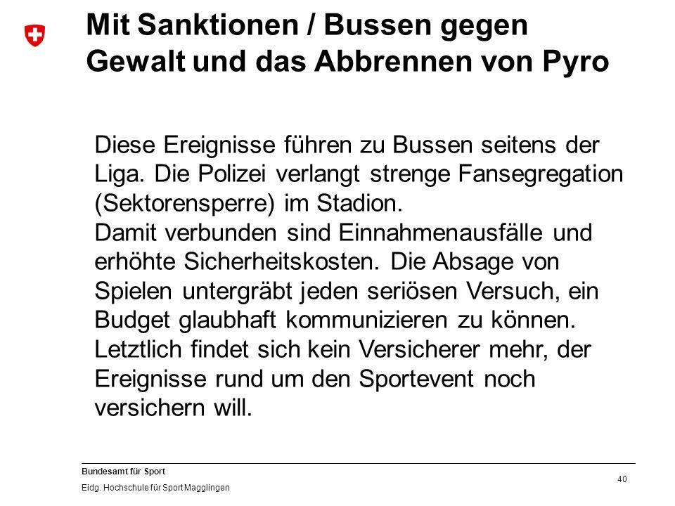 40 Bundesamt für Sport Eidg.