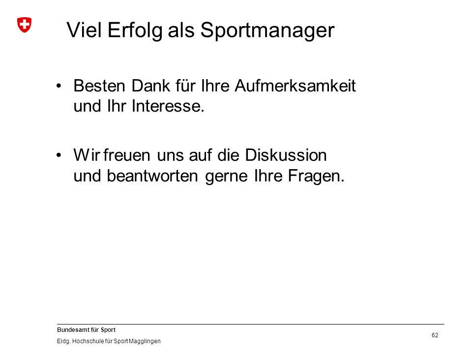 62 Bundesamt für Sport Eidg.