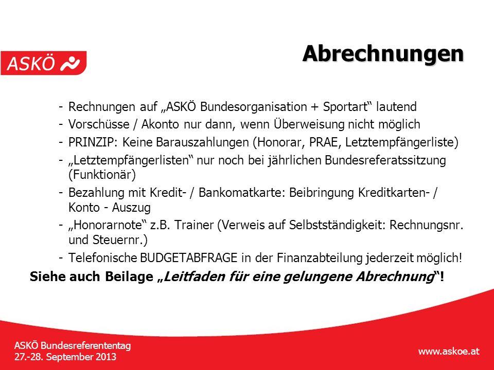 www.askoe.at ASKÖ Bundesreferententag 27.-28.September 2013 Sport Fair bindet » 1.