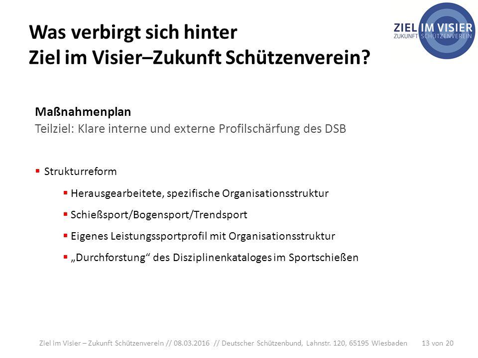 Ziel im Visier – Zukunft Schützenverein // 08.03.2016 // Deutscher Schützenbund, Lahnstr.