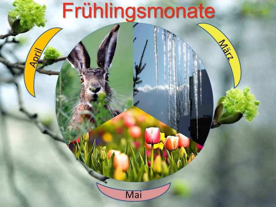 Frühlingsmonate März April Mai