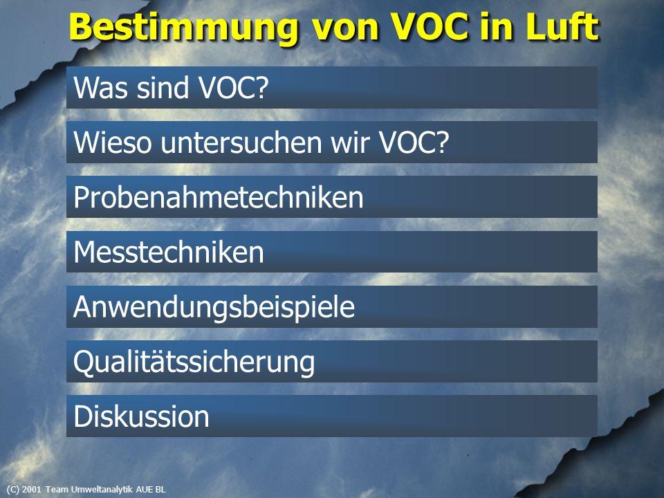 (C) 2001 Team Umweltanalytik AUE BL Apolare VOC, 1996-heute Probe (Feldbergstrasse, Basel), SIM