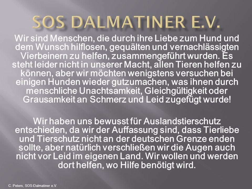 Herzlichen Dank Ihr Team des SOS Dalmatiner e.V und seine Fellnasen Tierschutz – für uns bedeutet das nicht, rausholen um jeden Preis und einfach nur in Deutschland verteilen – sondern: VERANTWORTUNG TRAGEN!!.