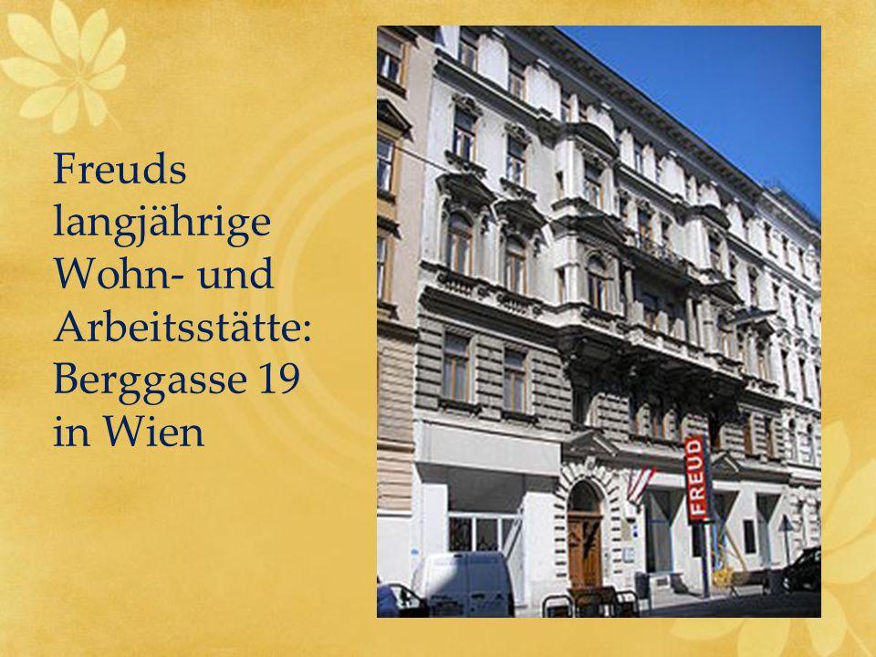 Freuds langjährige Wohn- und Arbeitsstätte: Berggasse 19 in Wien