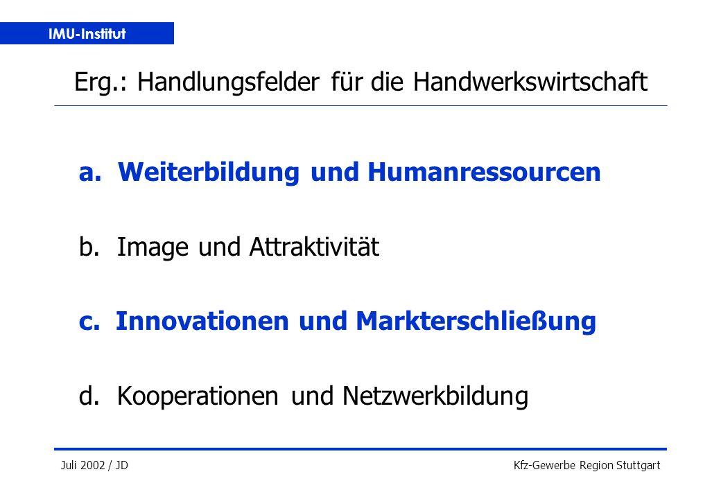 IMU-Institut Juli 2002 / JDKfz-Gewerbe Region Stuttgart a.