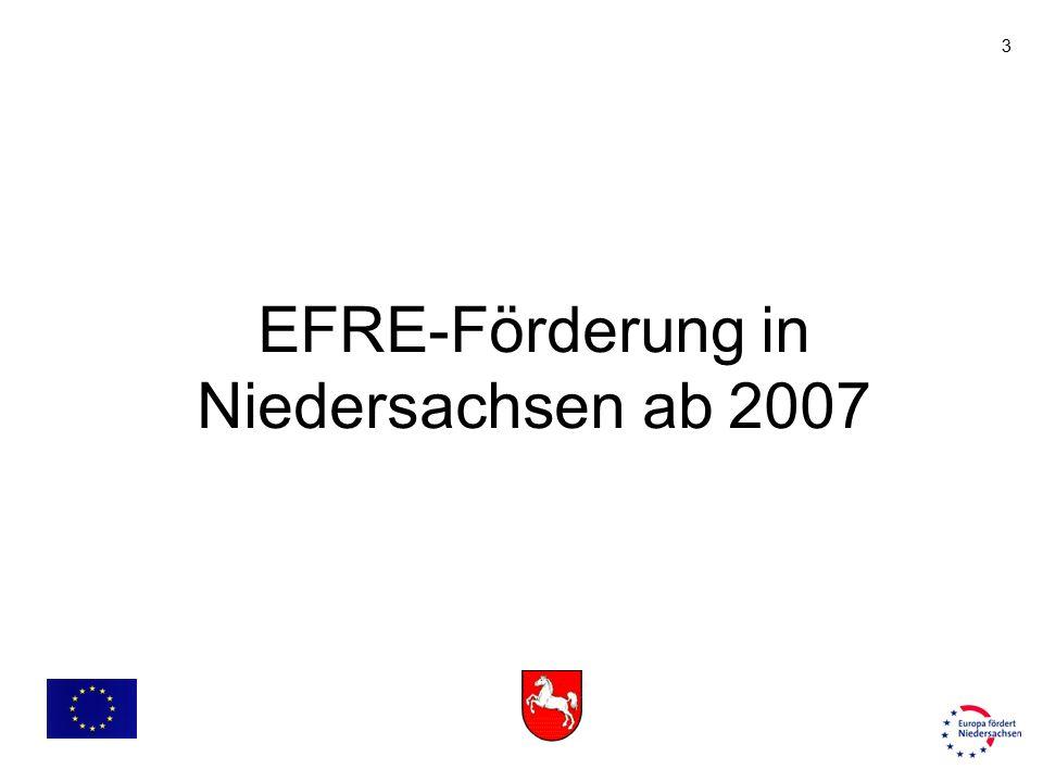 3 EFRE-Förderung in Niedersachsen ab 2007