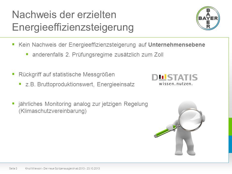 Nachweis der erzielten Energieeffizienzsteigerung  Kein Nachweis der Energieeffizienzsteigerung auf Unternehmensebene  anderenfalls 2.