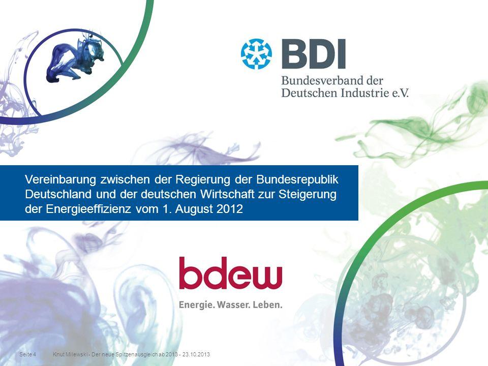 Vereinbarung zwischen der Regierung der Bundesrepublik Deutschland und der deutschen Wirtschaft zur Steigerung der Energieeffizienz vom 1.
