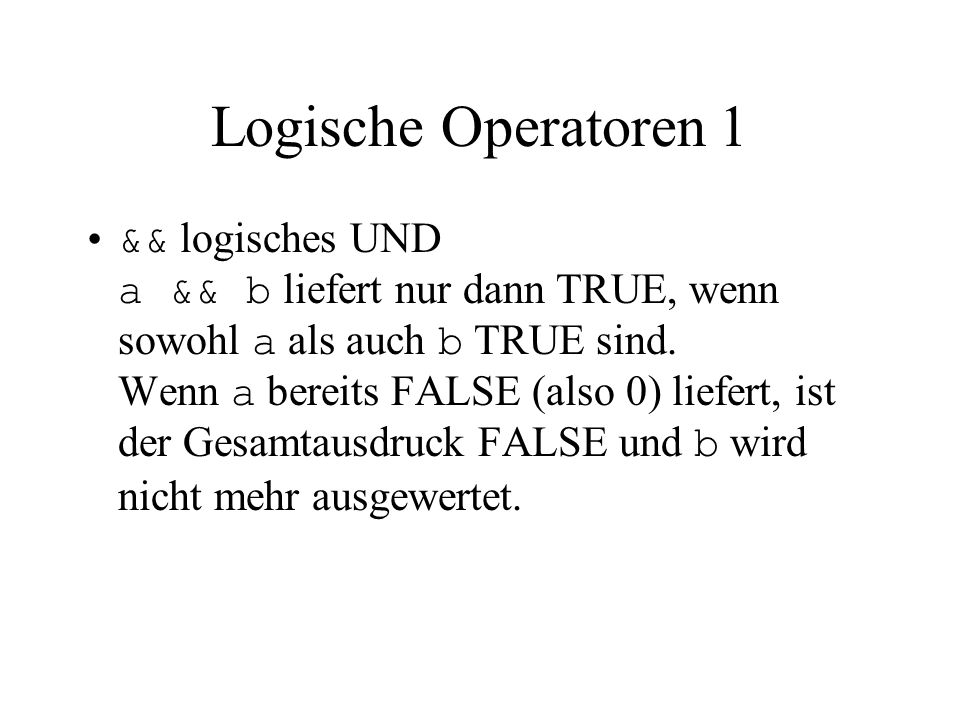 Fallabfrage (switch – case) 1 Syntax: switch( expression ) { case const1: s1 [case const2: s2]...
