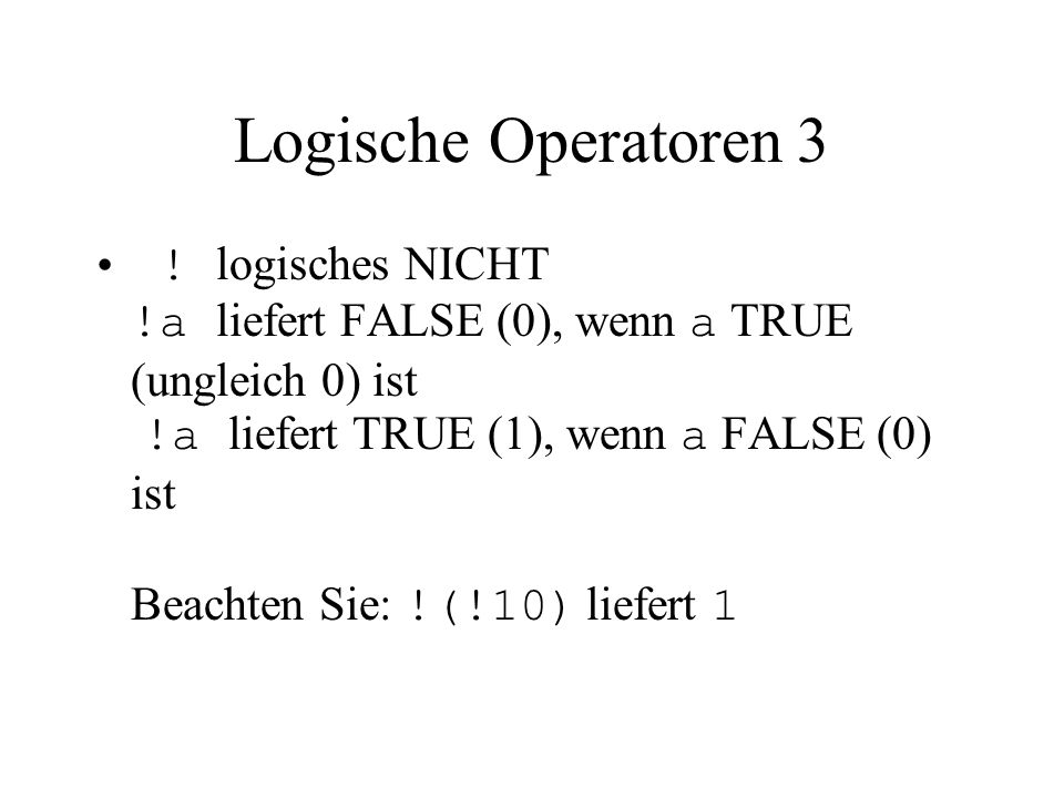 Fallabfrage (switch – case) 3 Struktogramm: expression const1 const2... default s1 s2... sd