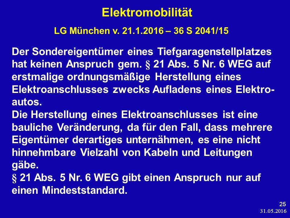 31.05.2016 25 Elektromobilität LG München v.