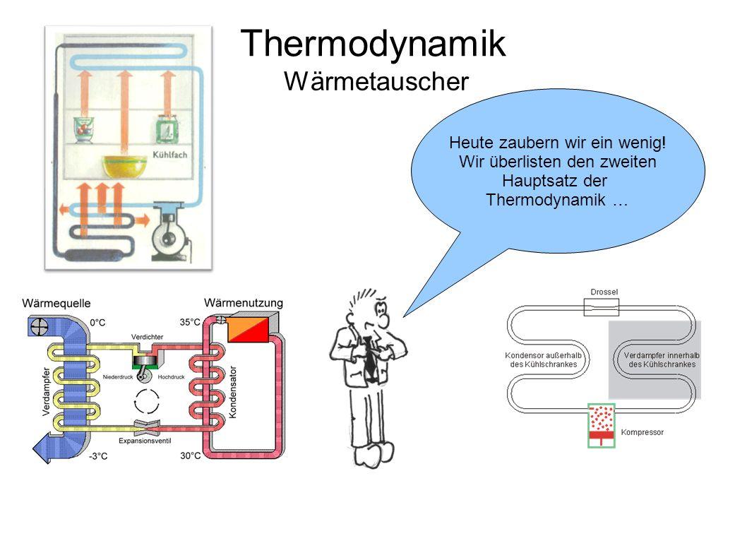 Thermodynamik Wärmetauscher Heute zaubern wir ein wenig! Wir überlisten den zweiten Hauptsatz der Thermodynamik …