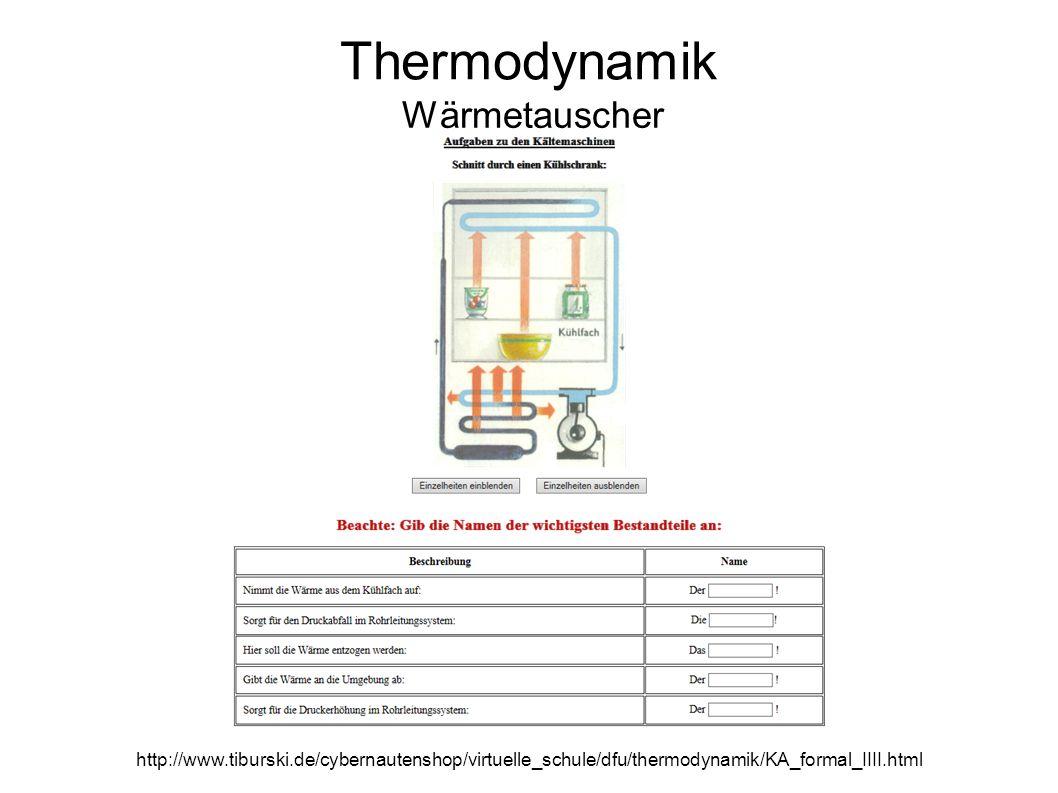 Thermodynamik Wärmetauscher http://www.tiburski.de/cybernautenshop/virtuelle_schule/dfu/thermodynamik/KA_formal_IIII.html