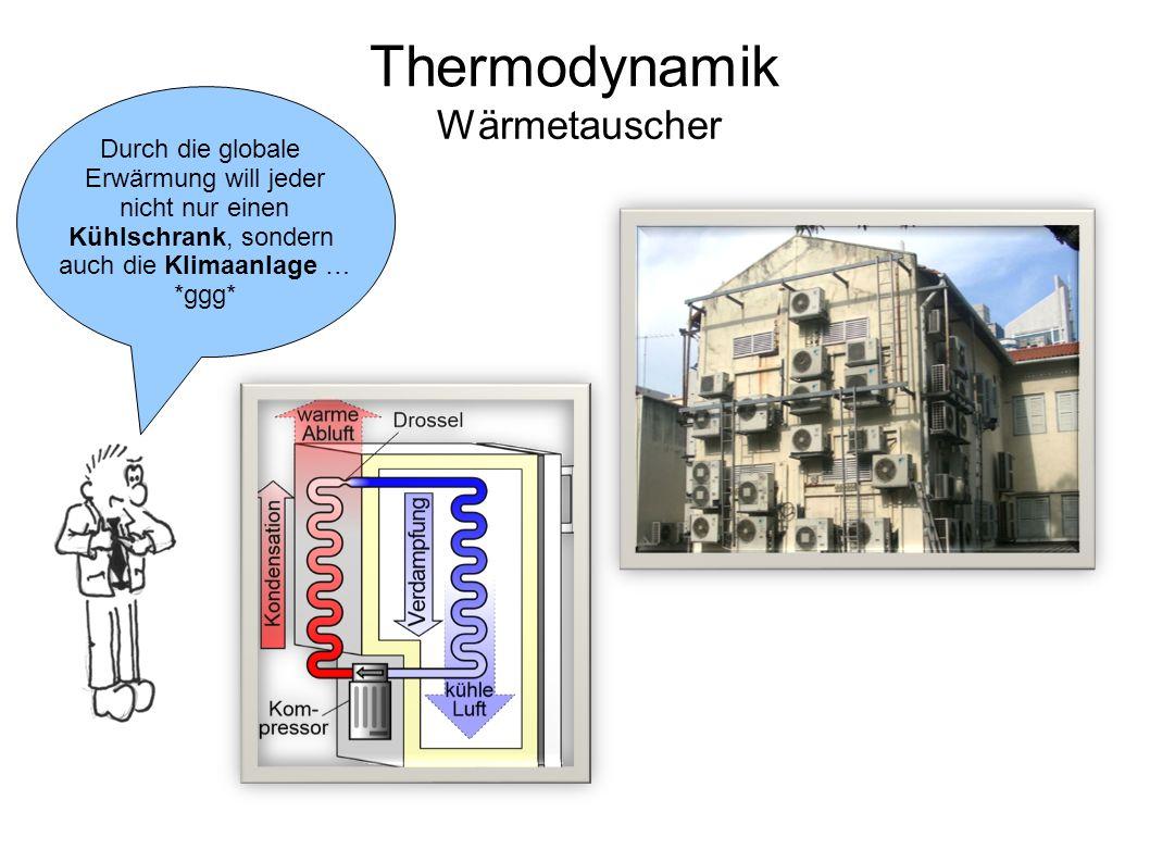 Thermodynamik Wärmetauscher Durch die globale Erwärmung will jeder nicht nur einen Kühlschrank, sondern auch die Klimaanlage … *ggg*
