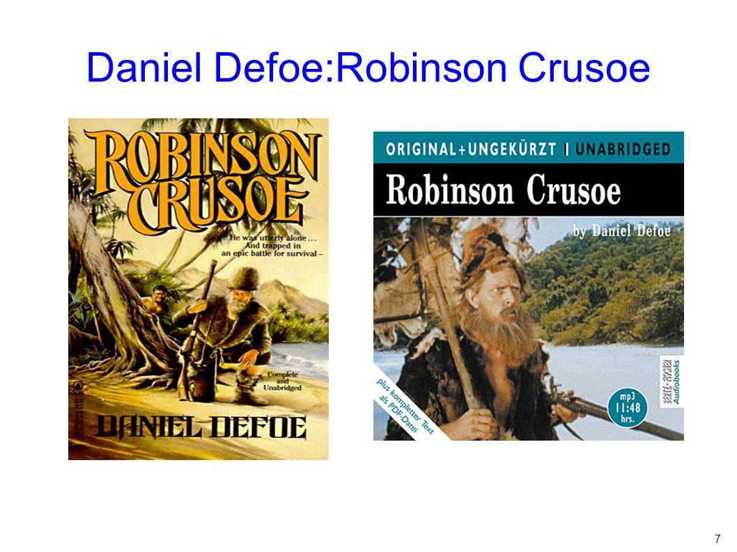7 Daniel Defoe:Robinson Crusoe