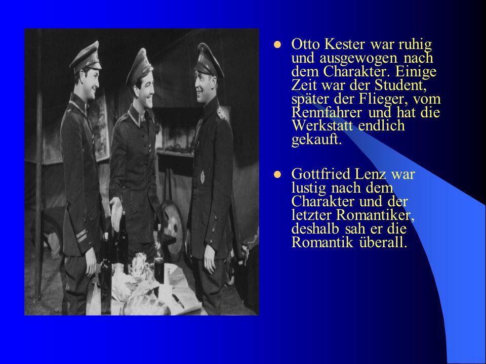 Otto Kester war ruhig und ausgewogen nach dem Charakter.