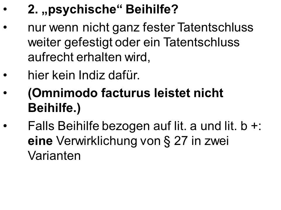 """2. """"psychische Beihilfe."""