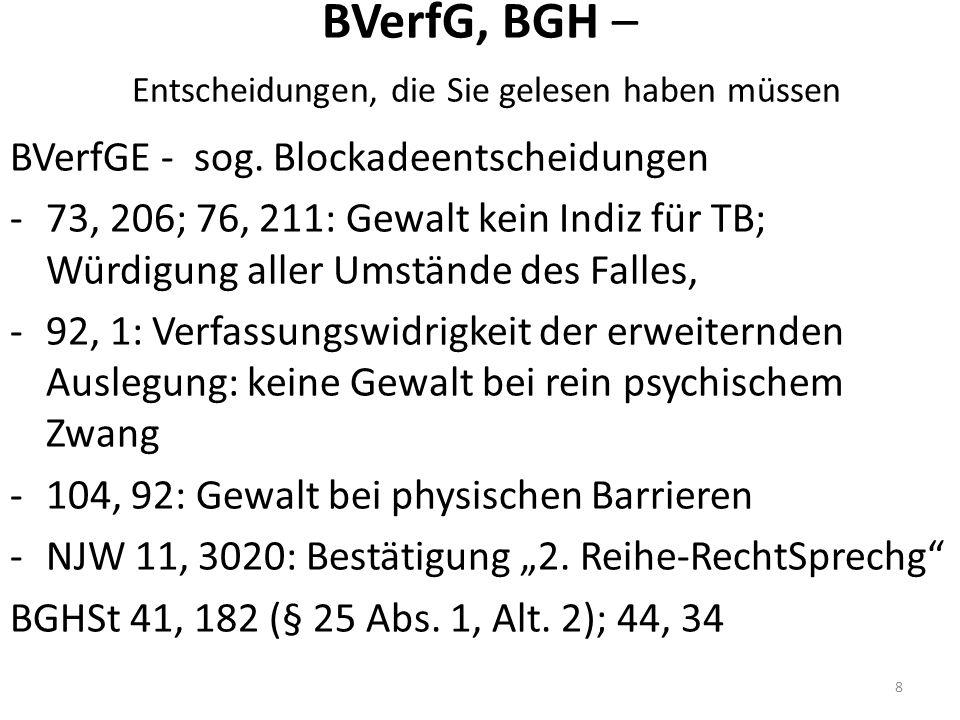 BVerfG, BGH – Entscheidungen, die Sie gelesen haben müssen BVerfGE - sog.